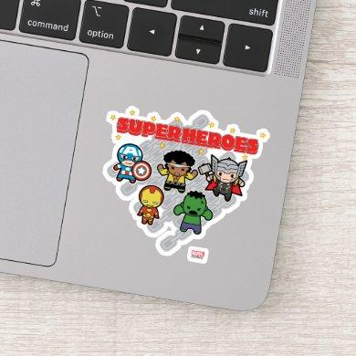 Kawaii Marvel Super Heroes Sticker
