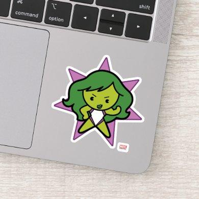 Kawaii She-Hulk Flex Sticker