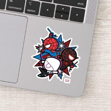 Kawaii Spider-Man, Ghost-Spider, & Miles Morales Sticker