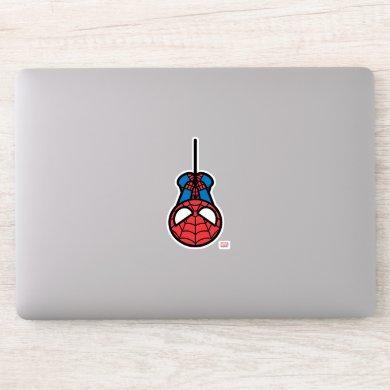 Kawaii Spider-Man Hanging Upside Down Sticker