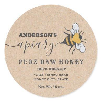 Kraft Bee logo script apiary honey jar label