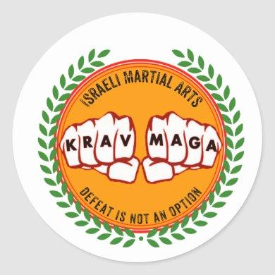 Krav Maga - Defeat is not an option Classic Round Sticker