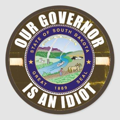 Kristi Noem is an idiot Classic Round Sticker