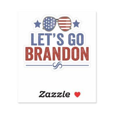 Let's go Brandon Patriotic American Sunglasses Sticker