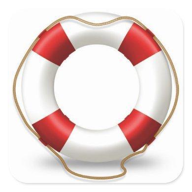 Life Ring Preserver Square Sticker