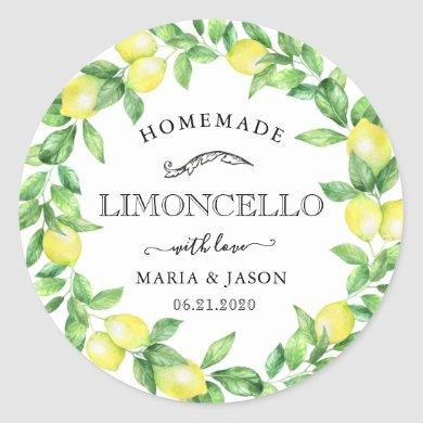 limoncello monogram favor classic round sticker