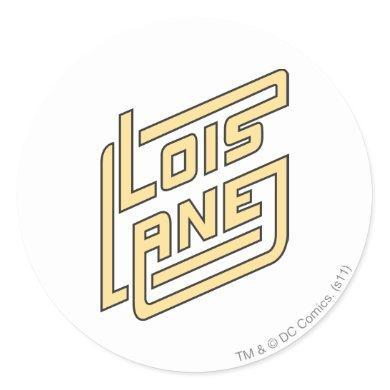 Lois Lane Logo Classic Round Sticker