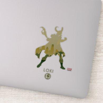 Loki Heroic Silhouette Sticker
