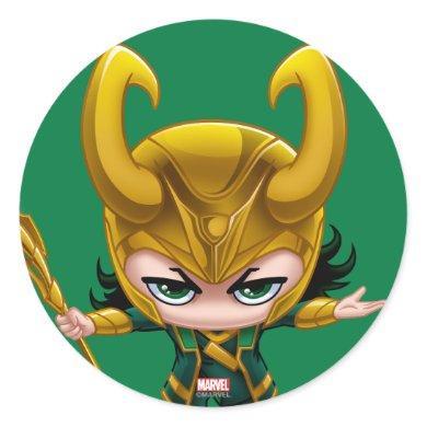 Loki Stylized Art Classic Round Sticker
