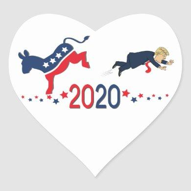 Love Donald Trump's failure in 2020 Heart Sticker