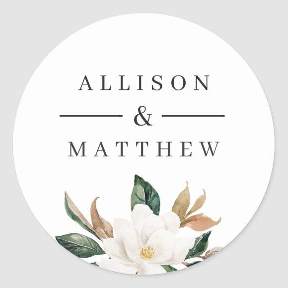 Lovely magnolia wedding sticker