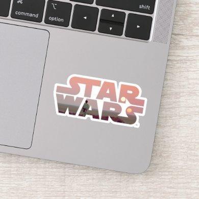 Luke Skywalker Tatooine Sunset Star Wars Logo Sticker