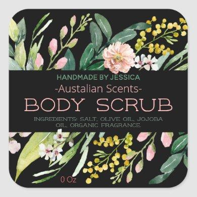 Lush Australian Floral Bath Body Scrub Butter Soap Square Sticker