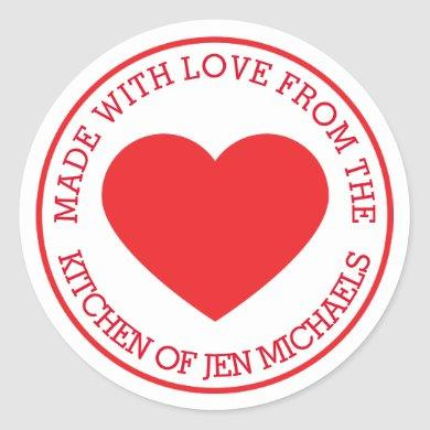Made With Love From Classic Round Sticker