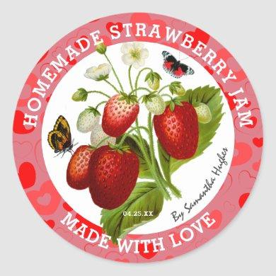 Made with Love | Strawberry Jam Labels