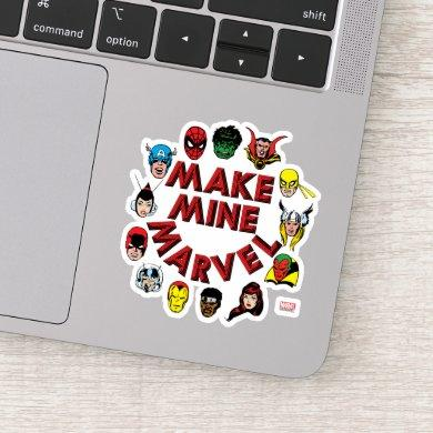 """Make Mine Marvel"" Hero Graphic Sticker"