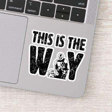 "Mandalorian & The Child ""This Is The Way"" Quote Sticker"