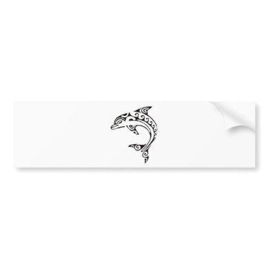 Maori Dolphin Bumper Sticker