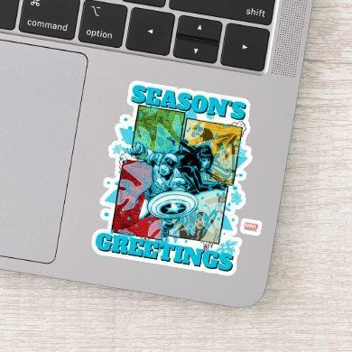 Marvel Classics   Cap & Black Widow Icey Graphic Sticker