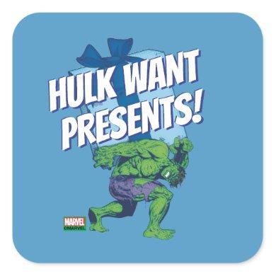 Marvel Classics | Hulk Sized Gift Square Sticker