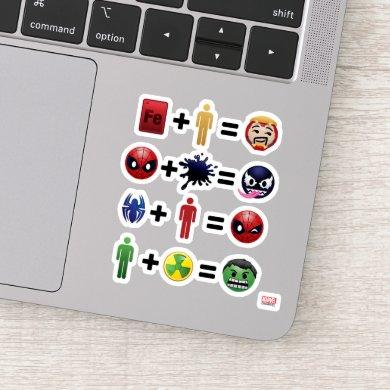 Marvel Emoji Character Equations Sticker