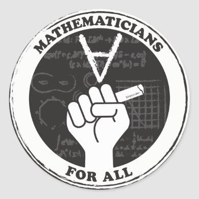 Mathematicians for All stickers