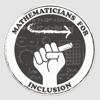 Mathematicians for Inclusion stickers
