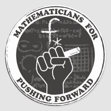 Mathematicians for Pushing Forward Stickers