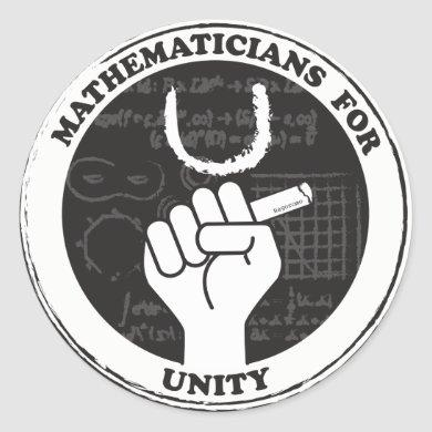 Mathematicians for Unity stickers