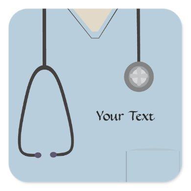 Medical Scrubs Light Blue Sticker