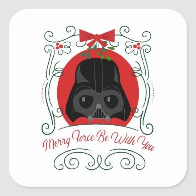 Merry Force Be With You Square Sticker