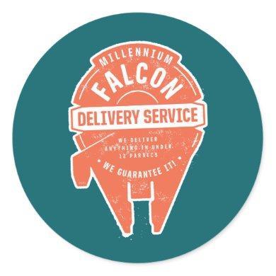 Millennium Falcon Delivery Service Badge Classic Round Sticker