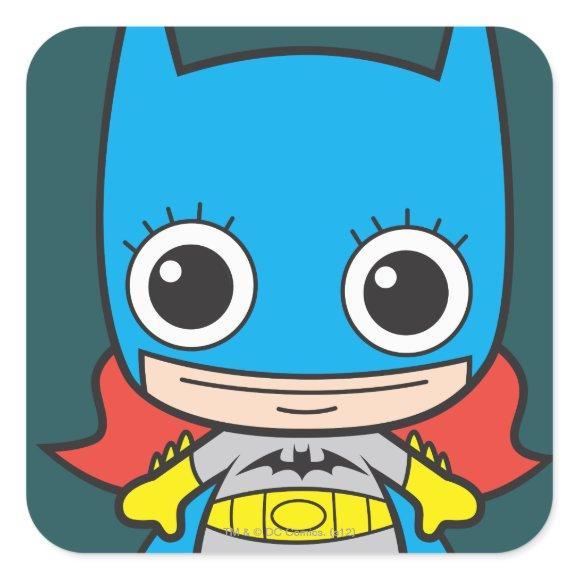 Mini Batgirl Square Sticker