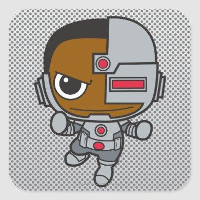 Mini Cyborg Square Sticker