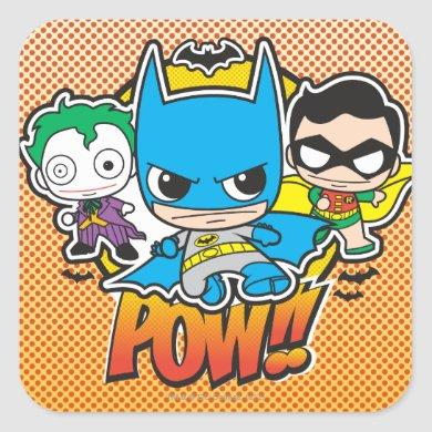 Mini Pow Square Sticker