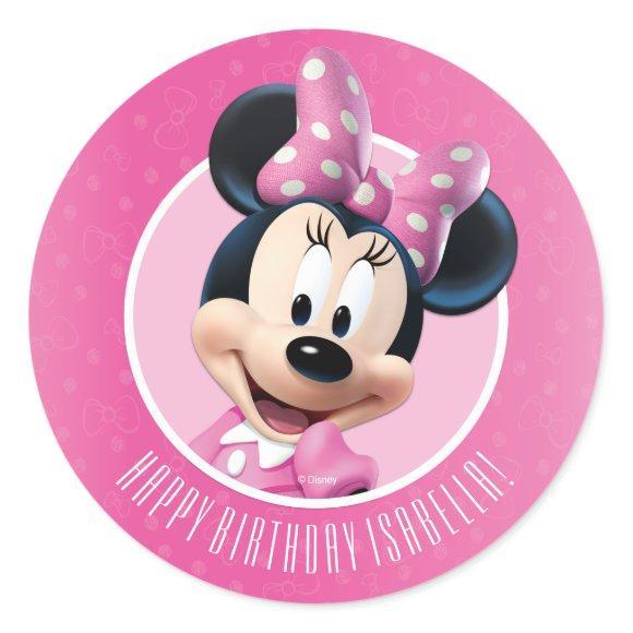 Minnie Pink and White Birthday
