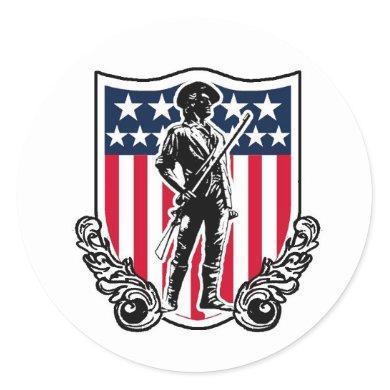 Minuteman Shield Sticker