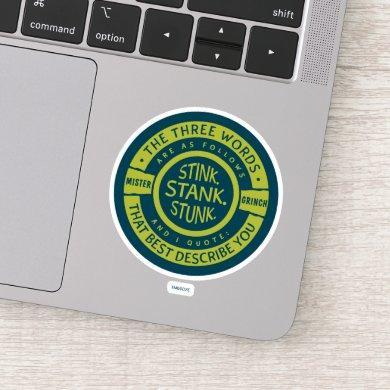 Mister Grinch   Stink Stank Stunk Sticker
