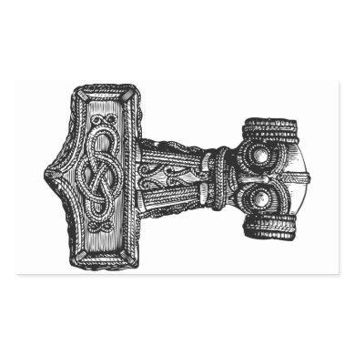 Mjolnir: Thor's Hammer Rectangular Sticker