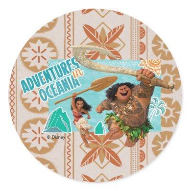 Moana | Adventures In Oceania Classic Round Sticker