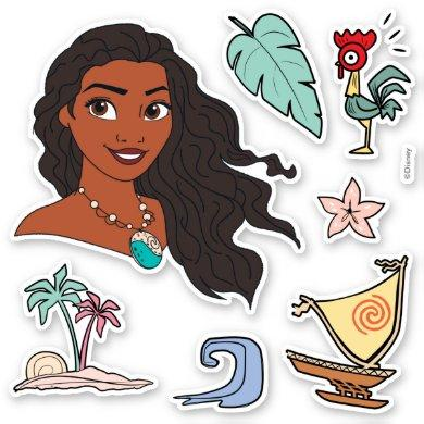 Moana Icons Sticker