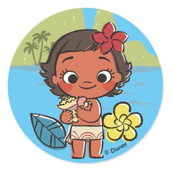 Moana   Island Daughter Classic Round Sticker