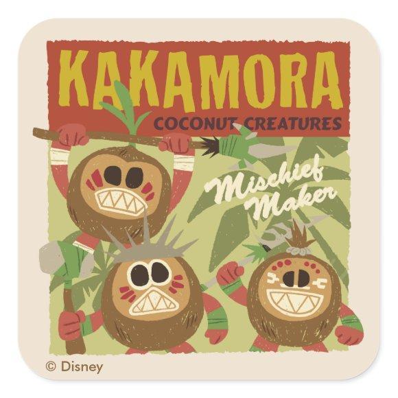 Moana   Kakamora - Coconut Creatures Square Sticker