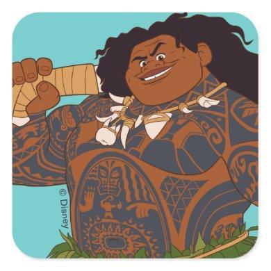 Moana | Maui - Hook Has The Power Square Sticker