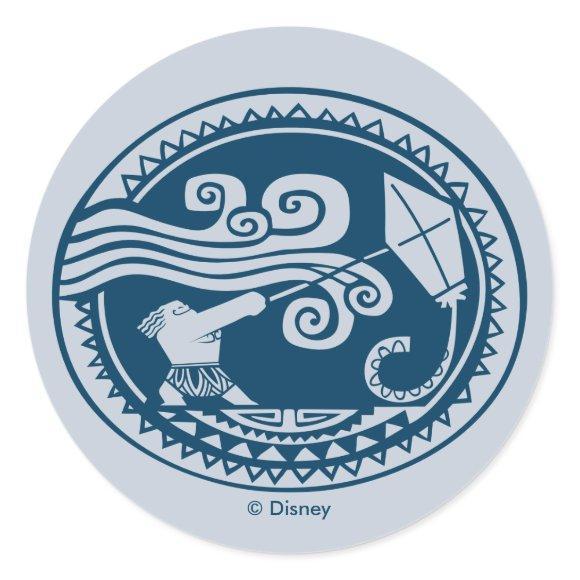 Moana | Maui - Trickster Classic Round Sticker