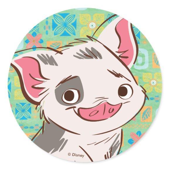 Moana   Pua - I'm No Bacon Classic Round Sticker