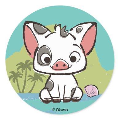 Moana | Pua The Pot Bellied Pig  Classic Round Sticker
