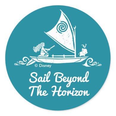 Moana | Sail Beyond The Horizon Classic Round Sticker