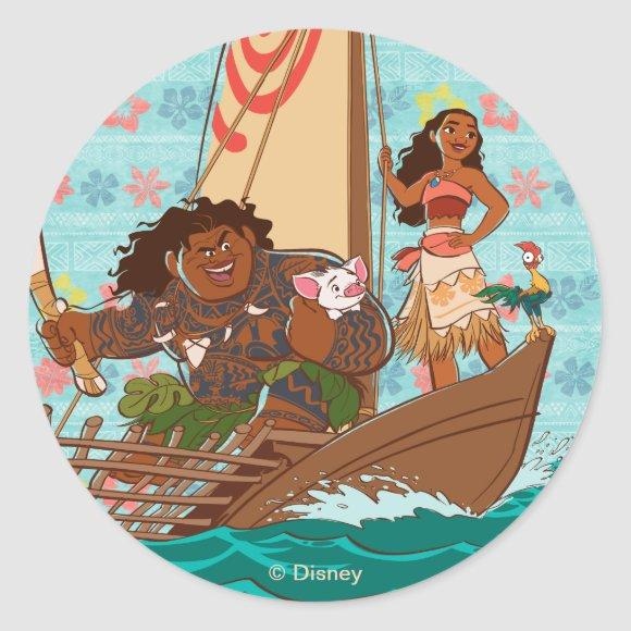 Moana | Set Your Own Course Classic Round Sticker
