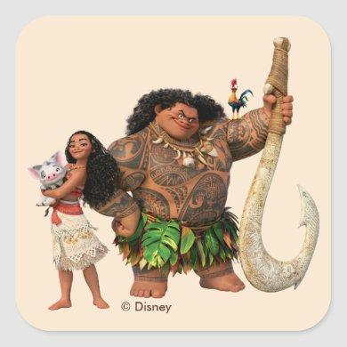 Moana | The Ocean Connects Us Square Sticker